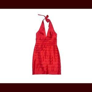 BCBG Red Halter Dress